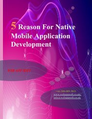 5 Reason For Native Mobile Application Developmen1