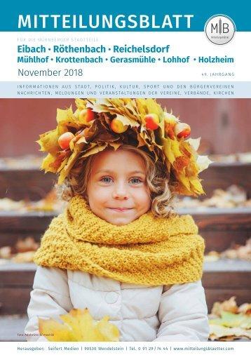 Nürnberg-Eibach/Reichelsdorf/Röthenbach November 2018