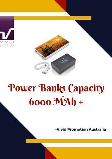 Vivid Promotions Australia | Custom Printed Power Banks Capacity 6000 MAh +