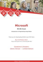 Microsoft 98-381 Dumps - Actual 98-381 Questions PDF [Updated]