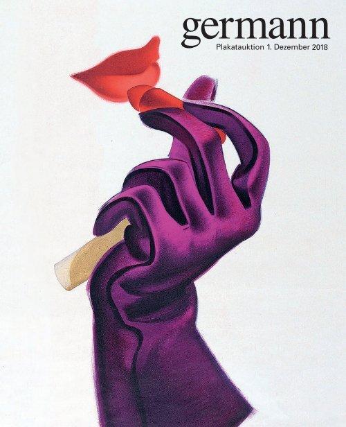 Plakat Auktion 1. Dezember 2018, Germann Auktionshaus, Zürich
