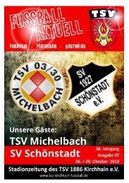 26. + 28.10.2018 Stadionzeitung  Michelbach/Schönstadt