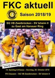 FKC Aktuell - 14. Spieltag - Saison 2018/2019