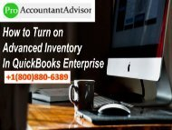 How to Turn On Advanced Inventory in QuickBooks Enterprise?