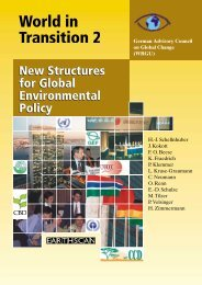 New Structures for Global Environmental Policy - WBGU