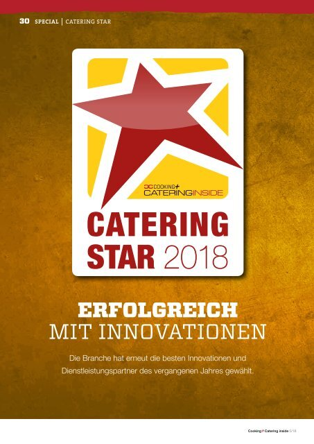 Cooking + Catering inside - Catering Star 2018: