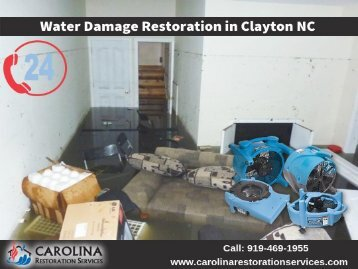 Emergency Water Damage Repair & Restoration in Clayton NC