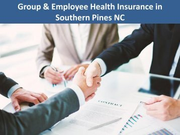 Group & Employee Health Insurance in Southern Pines NC