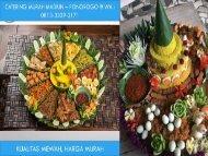 MURAH - TELP : 0897-7268-820 (Tri) Menu Catering Pernikahan Madiun
