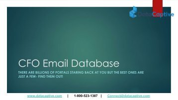 Which is the best portal for availing CFO email database
