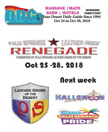 DDG This Week Oct 24 - Oct 30