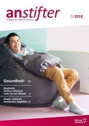 Anstifter 3, 2018 der Stiftung Liebenau