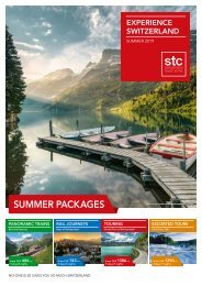 Switzerland Travel Centre - Experience Switzerland - Summerbrochure 2019