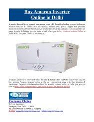 Buy Amaron Inverter Online in Delhi