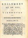 Reglement op de bus te Tienhoven en Oud-Maarsseveen, anno 1785. - Page 3