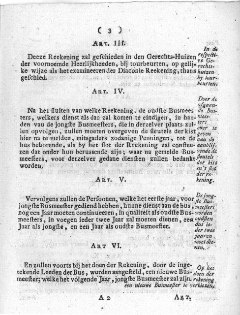 Reglement op de bus te Tienhoven en Oud-Maarsseveen, anno 1785.