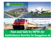 Advance Medical Support by MPM Air Ambulance Service in Bangalore