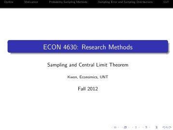 Sampling and central limit theorem