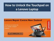 How to Unlock the Touchpad on a Lenovo Laptop