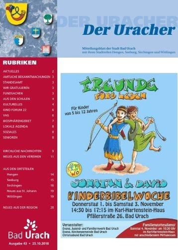 Der Uracher KW 43-2018