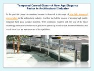 Tempered Curved Glass—A New Age Elegance Factor in Architectural Industry