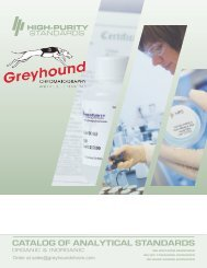 High Purity Standards 2016-Catalogue