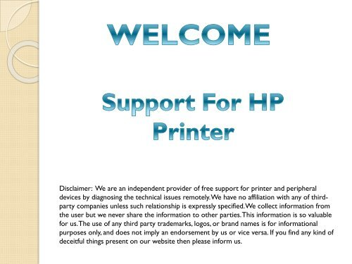 Free HP Printer Technical Support to Fix all Printer Errors  Free Diagnosis & Free Repair