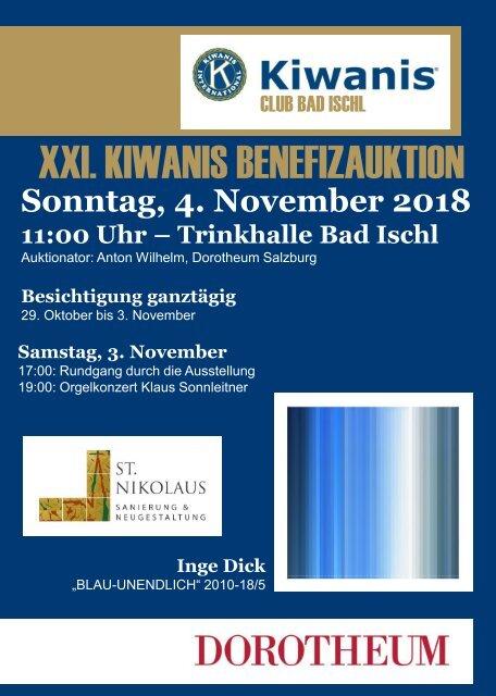 Kiwanis Club Bad Ischl Auktionskatalog 2018