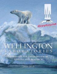 Wellington Laboratories Catalogue 2016  - 2018