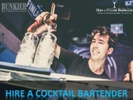 Hire a Cocktail Bartender for a Memorable Party