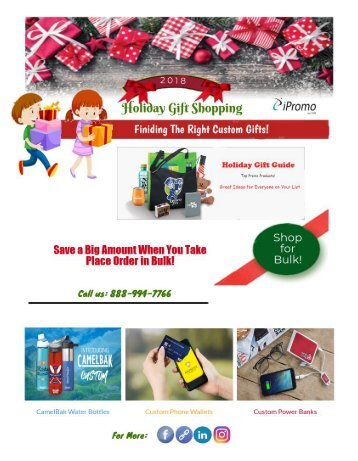 Top Promotional Gifts at this Holiday Season!