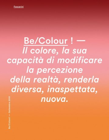 FOSCARINI_Catalog_News-Be-Colour_09-2018_EN-IT