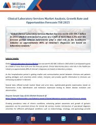Clinical Laboratory Services Market Analysis, Growth Rate and Opportunities Forecasts Till 2025
