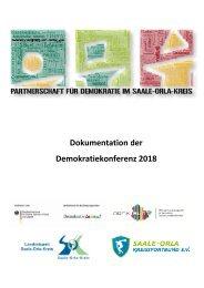 Dokumentation Demokratiekonferenz 2018 der Partnerschaft für Demokratie im Saale-Orla-Kreis