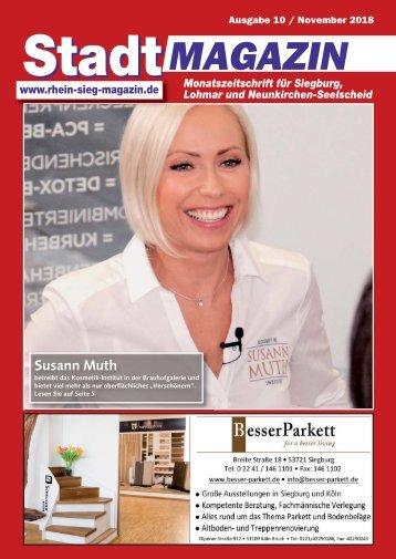 Stadt-Magazin Siegburg, Lohmar, Neunkirchen-Seelscheid - November 2018