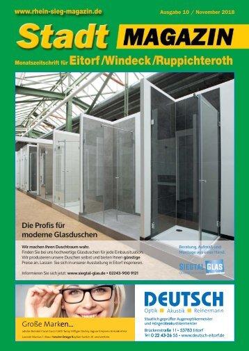 Stadt-Magazin Eitorf, Windeck, Ruppichteroth - November 2018