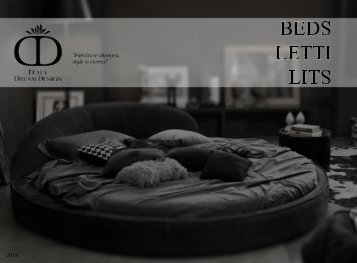 BEDS LETTI LITS - Italy Dream Design inspiration catalogue