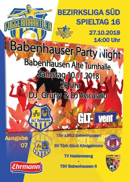 20181027 Fuggermärktler TSV 1862 Babenhausen – SV Türk Gücü Königsbrunn