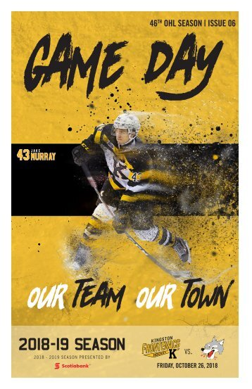 Kingston Frontenacs GameDay October 14, 2018