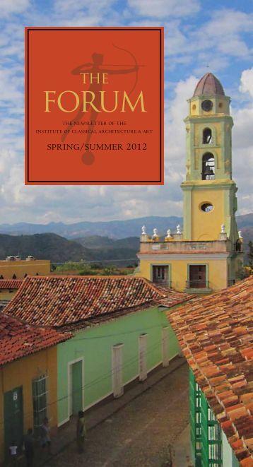 SPRING/SUMMER 2012 - Institute of Classical Architecture & Art