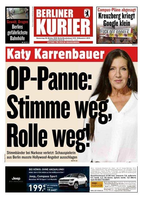 Berliner Kurier 25.10.2018
