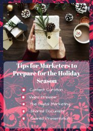 Tips for Marketers to Prepare for the Holiday Season