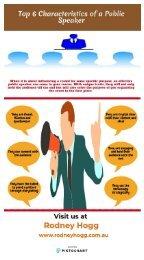 Top 6 Characteristics of a Public Speaker