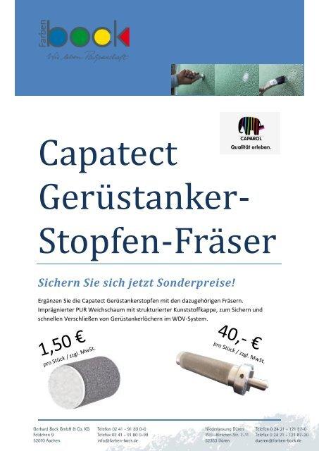 Extrem Capatect Gerüstanker- Stopfen und Fräser QC77