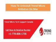 How To Uninstall Trend Micro Antivirus On Mac