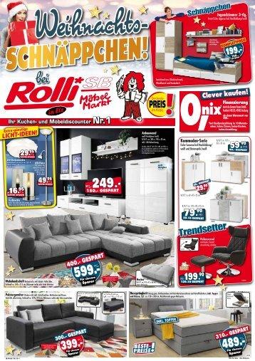 Klasse Weihnachts-Schnäppchen bei Rolli SB Möbelmarkt, 65604 Elz/Limburg