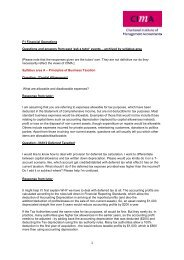 F1 Financial Operations Questions and answers from past ... - CIMA
