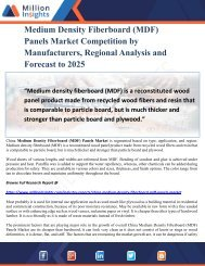 Medium Density Fiberboard (MDF) Panels Market Competition by Manufacturers, Regional Analysis and Forecast to 2025