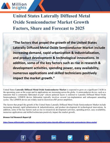 United States Laterally Diffused Metal Oxide Semiconductor Market Growth Factors, Share and Forecast to 2025
