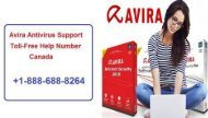 Dial +1-888-688-8264 Official Avira Antivirus Customer Support Number Canada